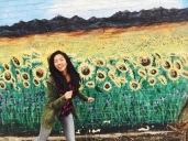 Frolicking through sunflower fields
